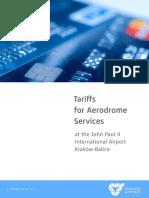 Tariffs for Aerodrome Services at KRK_1 NOV 2016