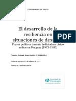 Desarrollo de Resiliencia en Uruguay Por Dictadura Militar