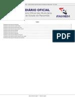 Diário oficial dos municipios do maranhão