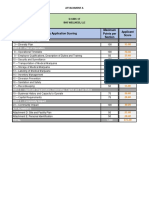 PA DOH Phase 1 Dispensary Evaluation Category Score Cards