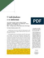Durkheim. O Individualismo e Os Intelectuais.