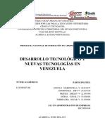 Desarrollo Tecnológico y Nuevas Tecnologías en Venezuela