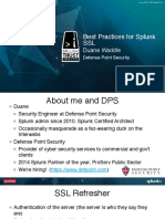 Conf2015 DWaddle DefensePointSecurity Deploying SplunkSSLBestPractices