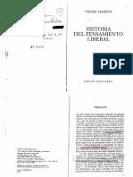 Manent, Pierre - Prefacio, Cap i, II, III, IV y Vi en Historia Del Pensamiento Liberal