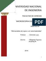 Microanálisis de Rayos x en Nanomateriales