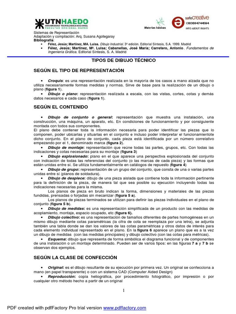 TIPOS DE DIBUJO TCNICO
