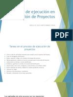Proceso de Ejecución en La Gestión de Proyectos