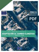Análisis Costo-beneficio de Medidas de Adaptación Al Cambio Climático en Áreas Urbanas de América Latina