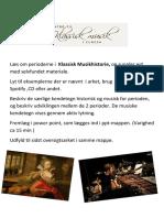Klassisk Musikhistorie