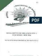 Rof 2016 Municipal de Manantay