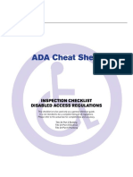 ADA Inspections Checklist
