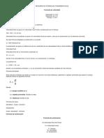Resumen de Fórmulas Fundamentales