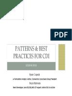 Cdi Best Practices