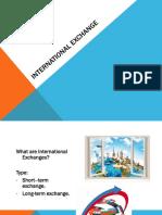 International Exchanges Presentation