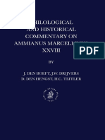 Jan Willem Drijvers, J. Den Boeft, D. Den Hengst, H. C. Teitler, Philological and Historical Commentary on Ammianus Marcellinus 28 (Inglés)