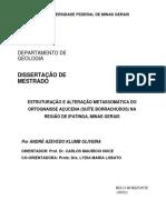 Estruturação e Alteração Metassomática