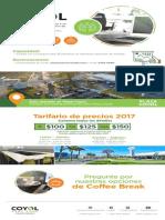 Tarifario Centro Capacitacion Coyol