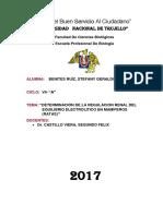Regulacion Renal Del Equilibrio Hidroelectroen Mamieros