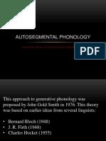Autosegmental Presentation