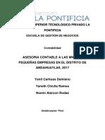 Proyecto Productivo Asesoria de Micro y Pequeñas Empresas