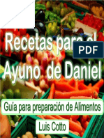 Recetas Para El Ayuno de Daniel
