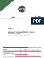 2015 FIAT Generic Warranty 2nd