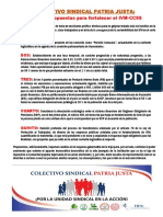 Colectivo Sindical Patria Justa propuestas para salvar el IVM