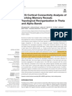 EEG Cortical Connectivity Analysis of Working Memory