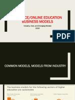 Online Education Business Models