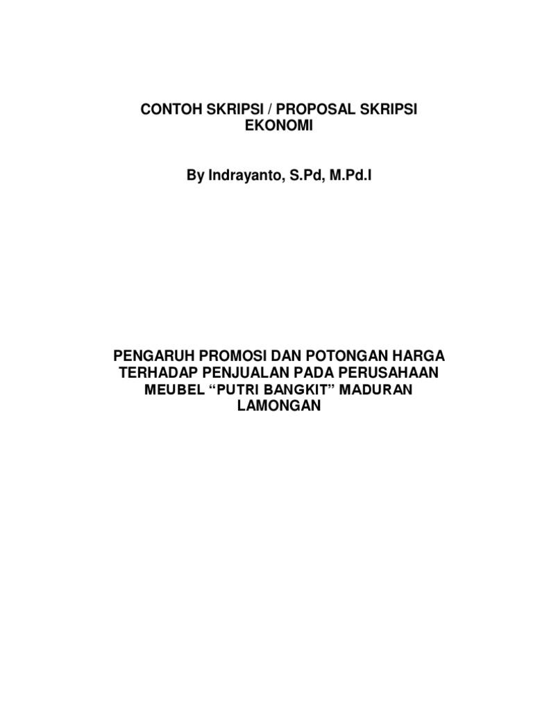 Contoh Skripsi Ekonomi 1