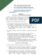 Normas Del Etiquetado de Productos Agroalimentarios