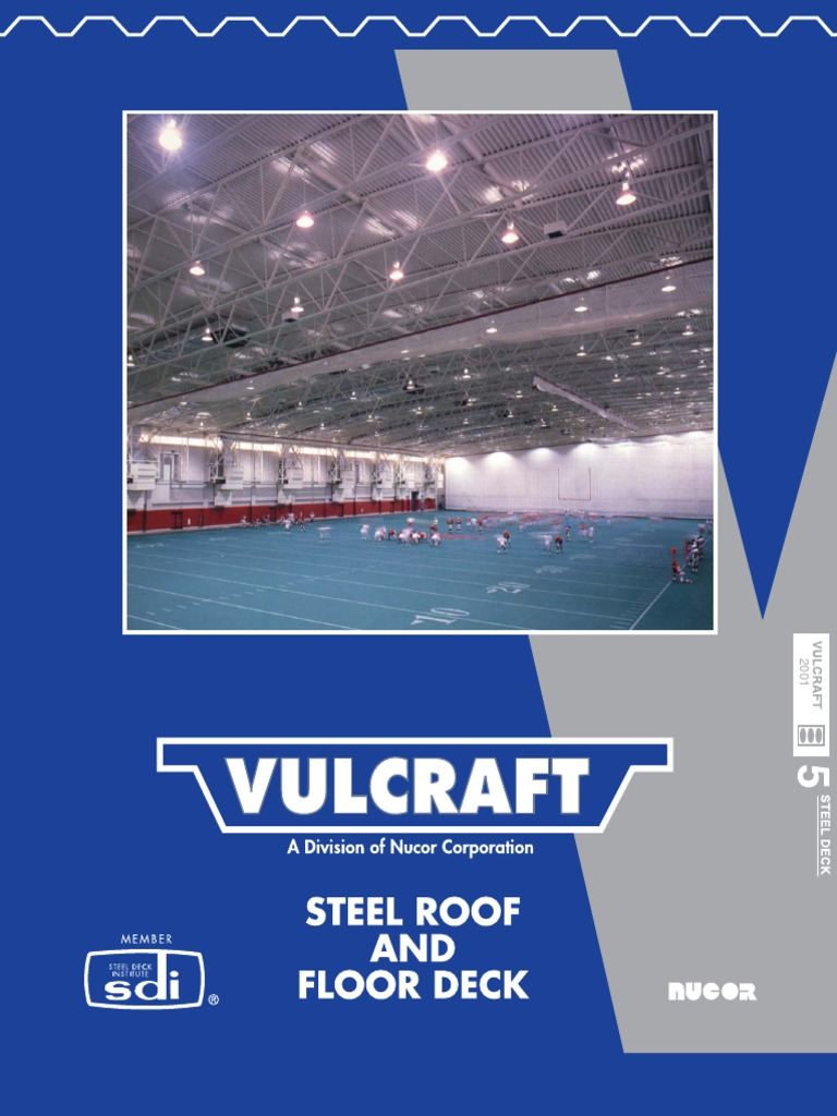 Vulcraft - Steel Roof and Floor Deck.pdf | Fiberglass | Specification  (Technical Standard)
