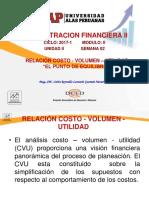 Relacion Costo - Utilidad y Punto de Equilibrio
