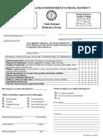 Club Rewind Reference Form