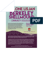 Ohlone Lisjan Berkeley Shellmound Community Discussion