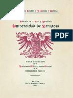 Historia de La Real y Pontificia Universidad de Zaragoza, Tomo II