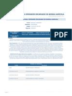 Perfil Competencia Operador Encargado de Bodega Agricola