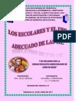 Los Escolares y El Uso Adecuado de Las Tic - Dayisbell Carrasquel