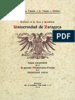 Historia de La Real y Pontificia Universidad de Zaragoza, Tomo III