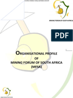 Mining Forum of South Africa- Organisational Profile