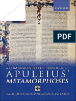 Ahuvia Kahane & Andrew Laird, Oxford Companion to the Prologue of Apuleius' Metamorphoses (Inglés)