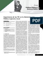 Importancia de Las TICs en La Administracion Publica