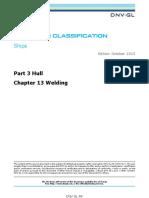 DNVGL RU Structural Design_weld SHIP Pt3Ch13