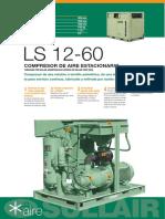 Ficha Técnica Compresor de Aire Sullair LS 12 60