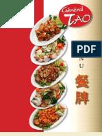 Menu Français - Restaurant Général Tao
