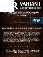 Free Space Optics Market Global Scenario, Market Size, Trend and Forecast, 2015-2024