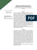Estimação Da Dissipação Energética e Da Sobrepressão Com Uso de Baixo-explosivos