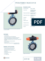 Wafer Type Butterfly Valve z 011-b