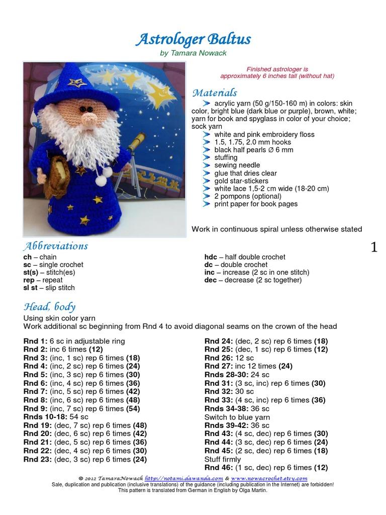 Astrologo Baltus Ing.pdf | Crochet | Hair