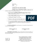 Affidavit of Low Income Ollero